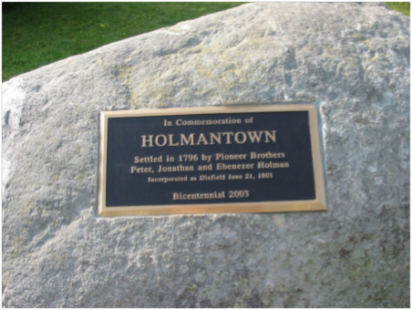 Holmantown plaque